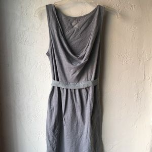 Old Navy Grey Drape Neck Dress with Ties Gray